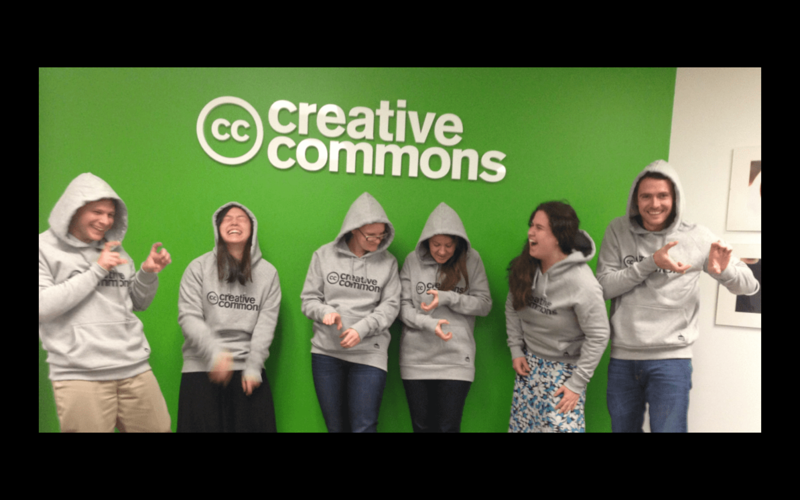 Billy and employees at Creative Commons in 2014